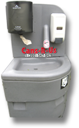 Portable Handwashing Station from Cans R Us, Inc.
